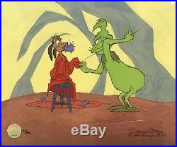 Dr. Seuss Grinch Just Like St. NickLimited Edition Cel Signed By Chuck Jones