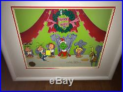 Dr Suess The Grinch Stole Christmas Cel WHO CHRISTMAS FEAST signed Chuck Jones