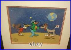 Duck Dodgers Trio 1990 Limited Edition animation cel, signed by Chuck Jones