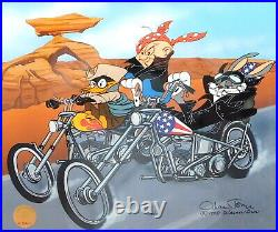 EASY WIDERS / Riders CHUCK JONES Signed Harley Davidson Cel Art Bugs Bunny Cell