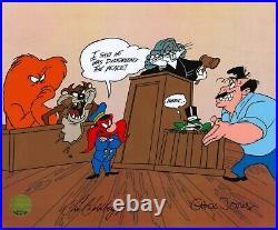 Eric Goldberg-signed One Froggy Witness Chuck Jones Ltd Ed HandPainted Cel of 50