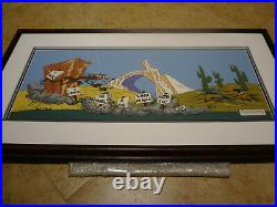 FANATIC BY CHUCK JONES SIGNED # 710 OF 750- 21 x 41 WARNER BROTHERS CELL