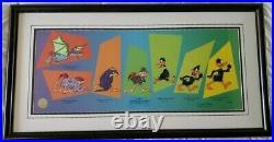 FRAMED Chuck Jones SIGNED'Evolution of Daffy' DISNEY Limited Edition Sericel
