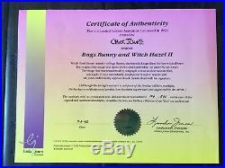 FRAMED Signed Cel CHUCK JONES BUGS BUNNY WITCH HAZEL II 106/500 withCOA