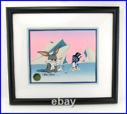 FRIDGED HARE Chuck Jones Bugs Bunny with Penguin 1992 Limited Edition Signed Cel