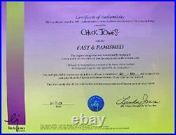 Fast and Famished Chuck Jones Signed Animation Cel