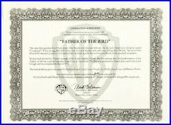 Father of the Bird 1997 Production Cel & Poster Signed Chuck Jones & Fossatti