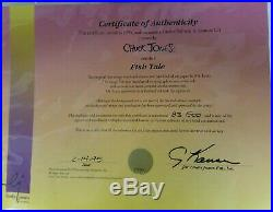 Fish Tale Limited Edition Cel SIGNED #'d Chuck Jones Daffy Duck Fishing with COA