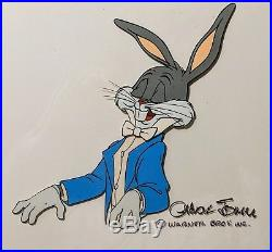 Flawless BUGS BUNNY 1976 Production Cel CHUCK JONES signed Museum Archival Frame