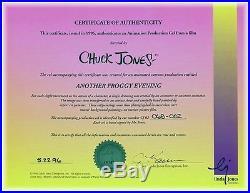 Framed, Chuck Jones SIGNED, Michigan J Frog PRODUCTION Animation Cel withCOA