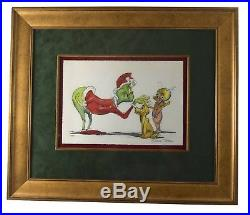 Framed Grinch & Cindy Lou Who Change of Heart Giclee Signed by Chuck Jones