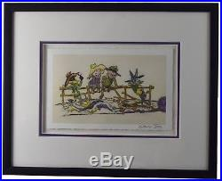 Framed The Good, The Bad, & The Hungry Giclee Signed by Chuck Jones Looney Tunes