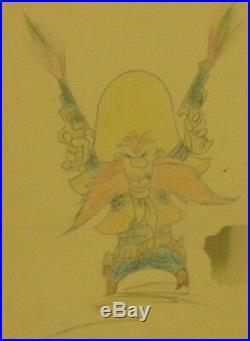 Friz Freleng Yosemite Sam Original Not Signed Sketch Chuck Jones Mel Blanc