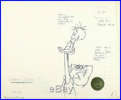 GREAT! HORTON HEARS A WHO 1970 SIGNED CHUCK JONES Original PRODUCTION DRAWING
