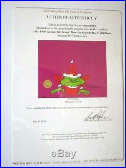 GRINCH Who Stole Christmas 1967 SIGNED CHUCK JONES Original Production CEL cell