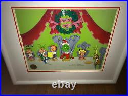 Grinch Cel Who Christmas Feast Signed Chuck Jones Animation Art Cell