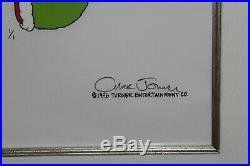 Grinch Christmas Animation Production Drawing Cel Signed Chuck Jones Dr Seuss