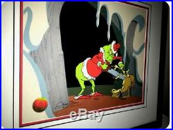 Grinch Stole Christmas Cel Dr Suess On Becoming A Reindeer Signed Chuck Jones