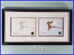 Grinch Stole Christmas Max Original Pencil Drawing & Cel SIGNED Chuck Jones COA