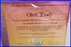 Grinch Who Stole Christmas hand Painted production Cel signed Chuck Jones 1966