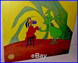 Grinch stole christmas animation cel just like st nick signed chuck jones