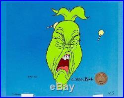 Grinch stole christmas cel original production signed chuck jones cell dr suess