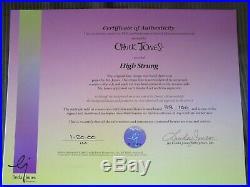 HIGH STRUNG rare SIGNED CHUCK JONES Warner Brothers Limited Edition Cel FRAMED