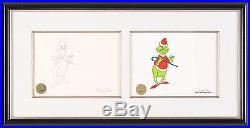 HOW THE GRINCH STOLE CHRISTMAS 1966 Chuck Jones Seuss signed cel and draw seal