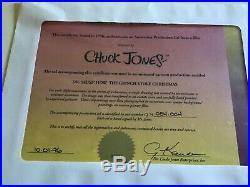 HOW THE GRINCH STOLE CHRISTMAS + Max Chuck Jones signed original Cel
