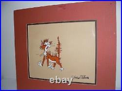 Harry the Cat HTF Original Animation Production Cel Chuck Jones Signed