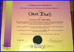 How The Grinch Stole Christmas Cel Artist Proof Edition Signed Chuck Jones Cell
