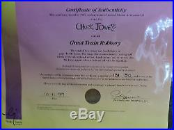 How The Grinch Stole Christmas Cel, Great Train Robbery signed Chuck Jones cell