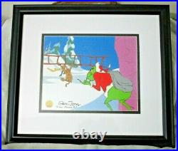 How The Grinch Stole Christmas Cel Signed Chuck Jones Animation limited FRAMED