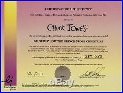 How the grinch stole christmas original production cel signed chuck jones cell
