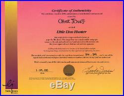 INKY & THE MYNA BIRD Little Lion Hunter RARE Ltd Ed CEL Signed CHUCK JONES