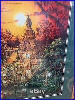 Indiana Jones Adventure Disneyland Concept Art, Print, Signed By Chuck Ballew