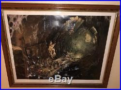 Indiana Jones Adventure Disneyland Lithograph Framed signed by Chuck Ballew