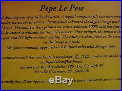 Limited edition Giclee of Pepe le Pew signed by Chuck Jones, #76 of 120