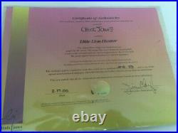 Little Lion Hunter Artist Proof Animation Cel Limited Ed. Signed Chuck Jones Wb