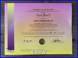 Ltd Edition Signed Chuck Jones Foghorn Leghorn I AM A CHICKEN HAWK Cel Art