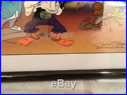 MARK OF ZORRO signed by CHUCK JONES Looney Tunes Hand Painted Ltd. Edition CEL
