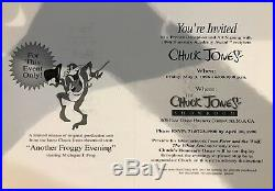 MARVIN THE MARTIAN & MICHIGAN J FROG Another Froggy Evening Signed Chuck Jones