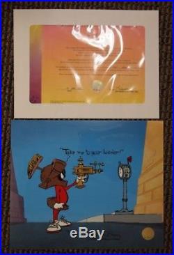 METER LEADER Marvin the Martian Ltd Ed Cel HAND-SIGNED CHUCK JONES Ray Gun