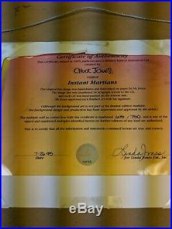 Marvin Martian Instant Martians Signed Chuck Jones Cel Limited Edition