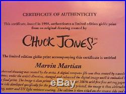Marvin Martian Ltd Ed Giclee Print 1998 Original Drawing Signed Chuck Jones COA