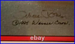 Meter Leader Marvin The Martian Lt Ed Cel Hand-signed Chuck Jones Framed