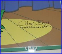 Michigan J Frog Animation Cel Signed Chuck Jones Frame LE #160/500 Hand Painted