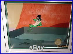 Michigan J Frog In Another Froggy Evening Signed by Chuck Jones COA