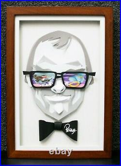Mike Peraza Signed Chuck Jones Paper Sculpt 3D Portrait Ltd Ed. Of 10 AP #1 b