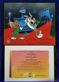 Operation Earth Ltd Ed Cel SIGNED Chuck Jones Maurice Noble Marvin the Martian